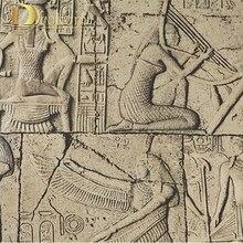 Высокое Качество Тисненые обои 3D Египет древние стены фрески Классическая скульптура старинные ПВХ виниловых обоев водонепроницаемый R448