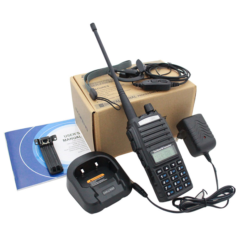 BaoFeng UV-82 5W Walkie Talkie / Bicycle Bag / Speaker Mic / Antenna / Programming Cable / Earpiece / Case Holder / Charger