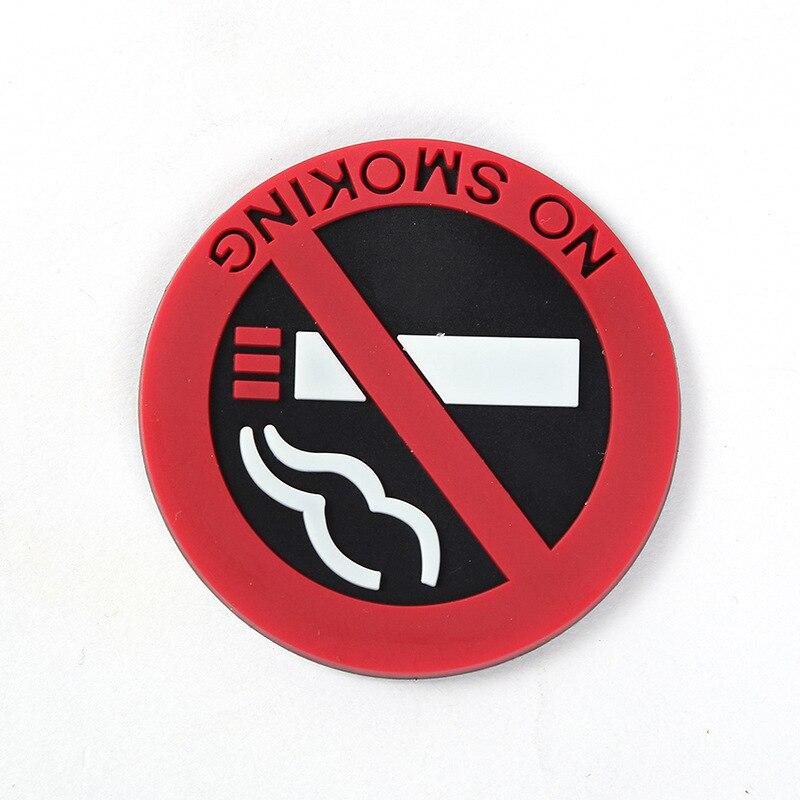 Hot Sale Rubber Smoking Prohibited Ban Warning Stickers Logo No Smoking Car Stickers Eye-Catching Red