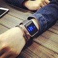Marca inteligente Led de toque Digital relógio de forma para as mulheres luminosos relógios de pulso Casual presentes de natal AB784