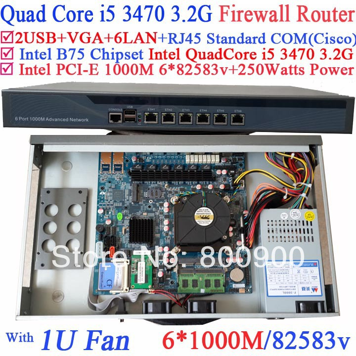 carte buffet platform 1U network server Barebone PC 6 Gigabit 82583v Lan Intel Quad Core i5 3470 3.2G Wayos PFSense ROS support ручка роллер parker urban t200 черный 0 8 мм f s0850460