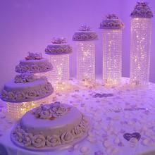 6 шт./компл./lot прозрачный акриловый кристалл торт стенд с шестью различными Tall бисера Strand для свадьбы домой вечерние Применение