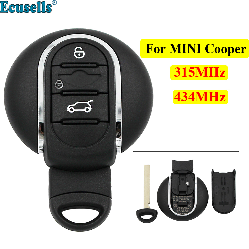 Nouveau 3 boutons Smart télécommande voiture porte-clés 315 MHz 434 MHz pour BMW Mini Cooper 2015 2016 2017 2018 avec lame de clé de secours