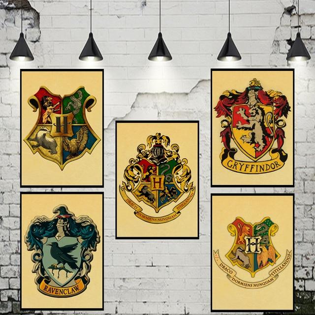 Harry Potter Stickers Muraux Gryffondor Serdaigle Poufsouffle