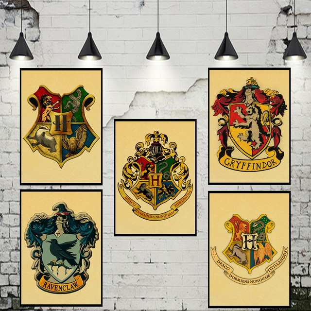 Harry Potter Wall Stickers Gryffindor/Ravenclaw/Hufflepuff ...