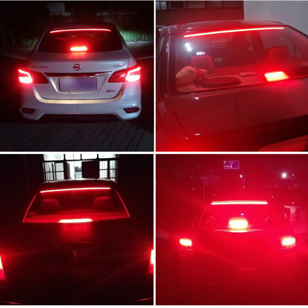 Image 2 - JURUS 100CM Red Flexible LED Car Additional Brake Light Interior Driving Mount Stop 12V Turn Signal Warning Lamp Car Accessories-in Decorative Lamp from Automobiles & Motorcycles