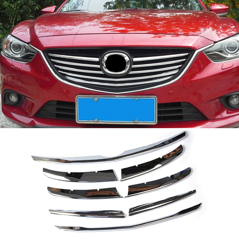 For Mazda 6 Atenza m6 Gj 2014 2015 Chrome Front Mesh Grille Grill Cover Trim Radiator