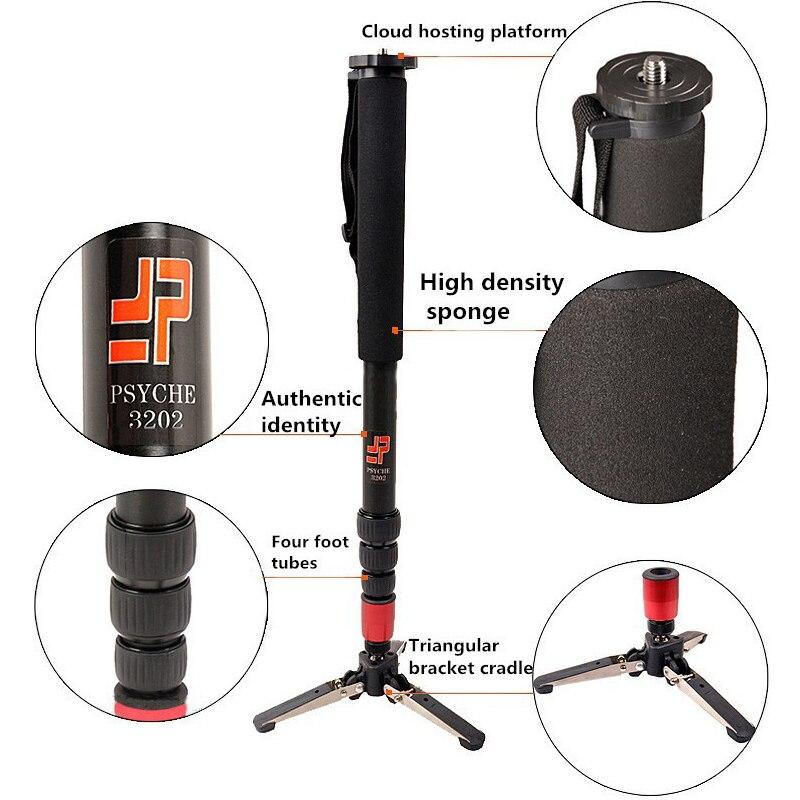 Caméra caméscope en alliage d'aluminium DSLR Unipod monopode avec trépied à 3 pieds pour Canon 1300D 1200D 850D 800D 760D 750D
