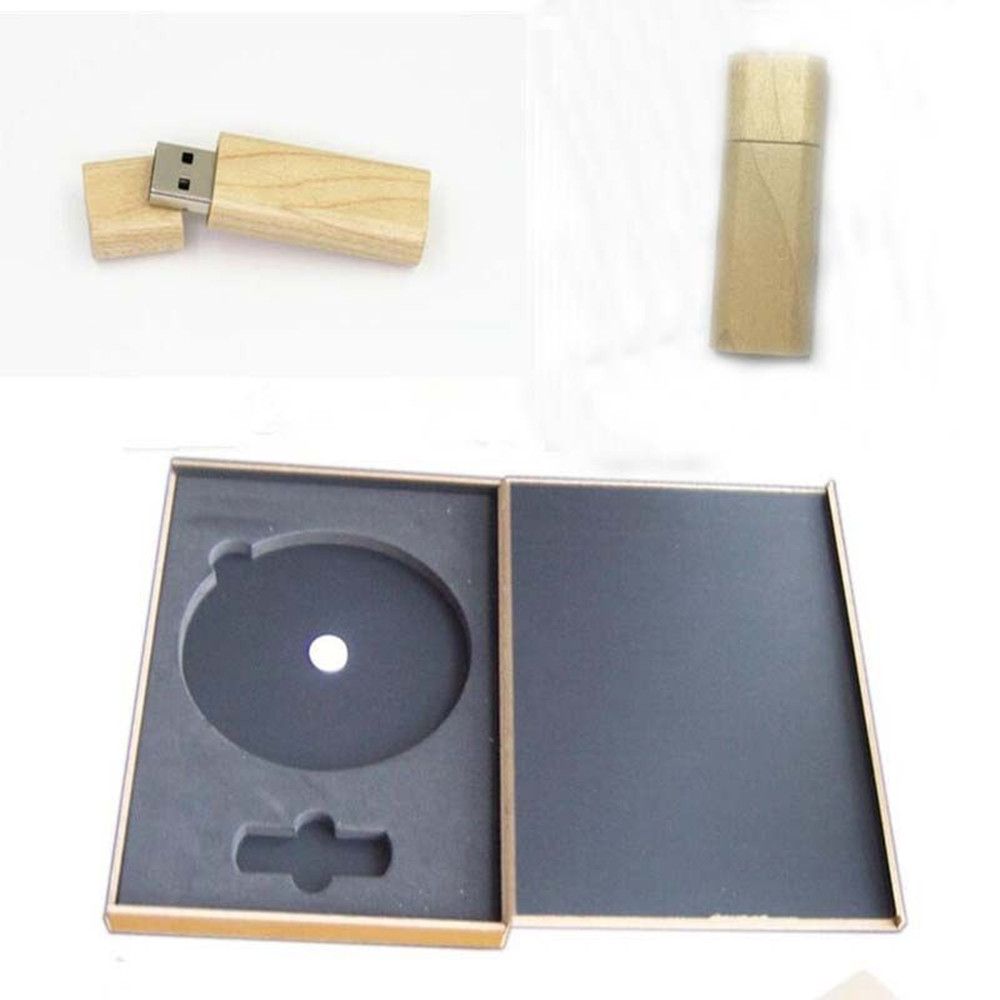 Hot new 2017 Wooden USB Stick pen drive with CD DVD Box usb 2.0 memory flash stick pen drive