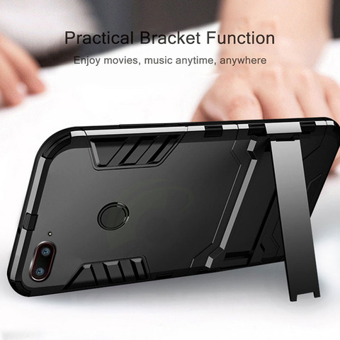 case For Xiaomi mi 8 lite Case Shockproof TPU+PC Hard Plastic with Stand Dual Hybrid Back Cover Case For xiaomi mi8 lite Lahore