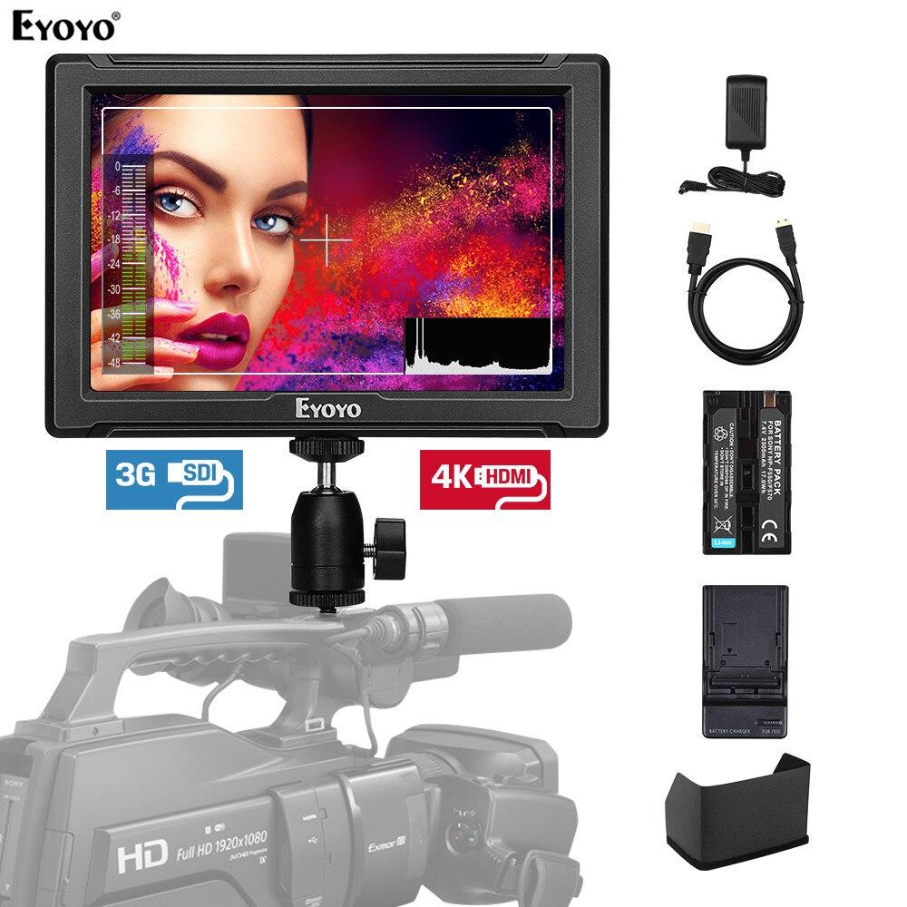 Eyoyo E7S PRO 7 Inch DSLR On Camera Field Monitor IPS Full HD 1920x1200 3G SDI 4K HDMI For Sony Canon Nikon Mirrorless Camera