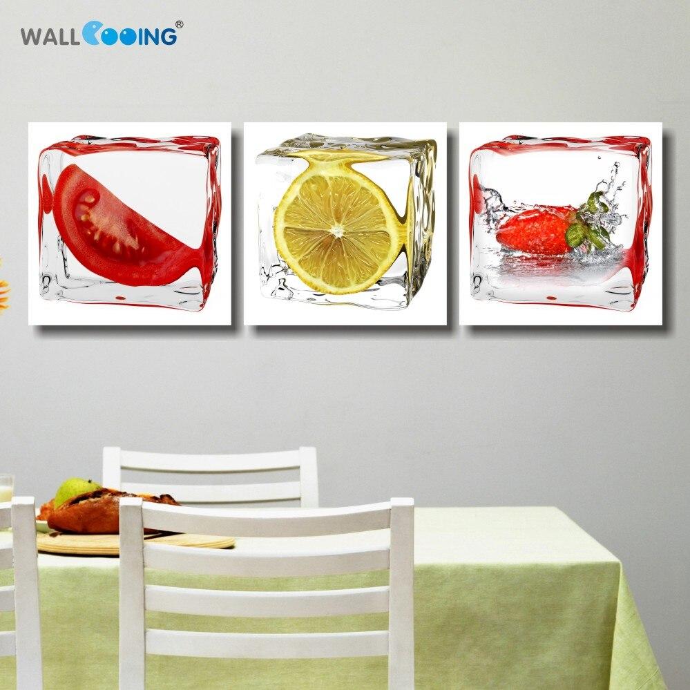 Fantastisch 3 Panel Printed Obst Lemon Leinwand Malerei Moderne Modulare Bilder Auf Für  Küche Decor Wandkunst Für Wohnzimmer Fotos