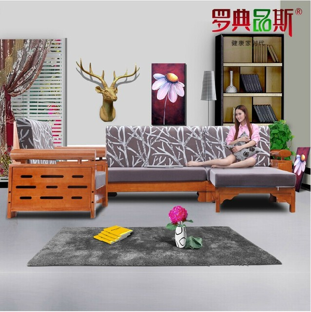 types of living room furniture. Chinese Style Wooden Furniture Living Room Combined Angle Type L Royal Oak Solid Wood Sofa Types Of