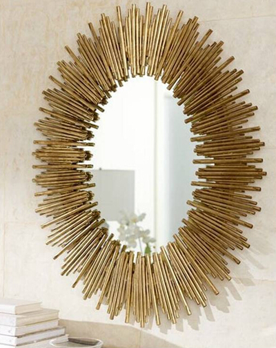 MR 2Q0138 metal frame wall decorative with gold sun wall mirror-in ...