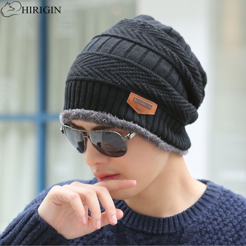 HIRIGIN Beanies Knit Hat Winter Hats For Men Women Skullies Winter Hat Wool Ski Cap Hip-Hop 6 Colors Winter Warm Unisex Wool Hat women s winter hats for men skullies beanies warm cap fashion solid colors outdoor caps unisex elastic beanies kintted wool hat