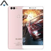 Оригинальный bluboo двойной 4 г телефона Android 6 Оперативная память 2 ГБ Встроенная память 16 ГБ 5.5 дюймов 4 ядра 13MP 1080 P FHD 3000 мАч отпечатков пальцев ID смартфон