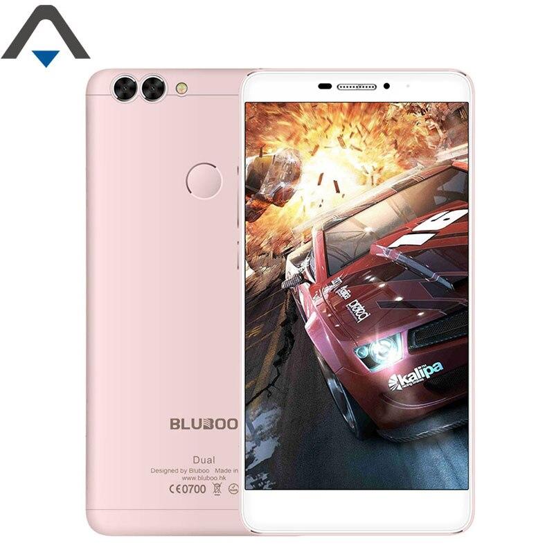 bilder für Original Bluboo Dual 4G handy Android 6 RAM 2 GB ROM 16 GB 5,5 zoll Quad Core 13MP 1080 P FHD 3000 mAh Fingerprint ID Smartphone