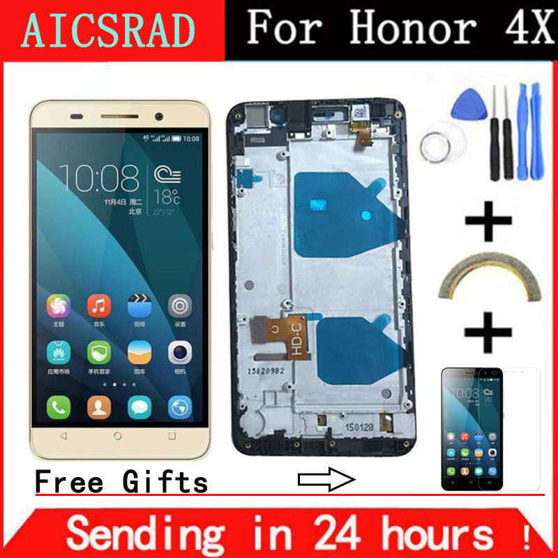 AICSRAD NO Dead Pixels 5.5 Display For HUAWEI Honor 4X LCD Touch Screen Digitizer Che2-L11 CHE2 UL00 Replacement
