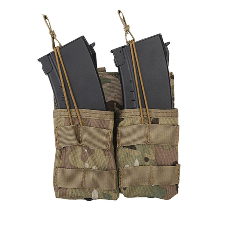 Military Tactical 7.62 Molle Magazine Pouches Double package Hunting Shooting Vest Belt Utility Flashlight Molle Pouche Tactical