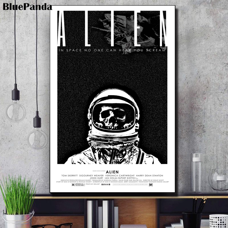 Alien Movie Poster Modern Canvas Painting Oil Print Wall Art Picture Decoration For Living Room Bedroom Home Decor(China)