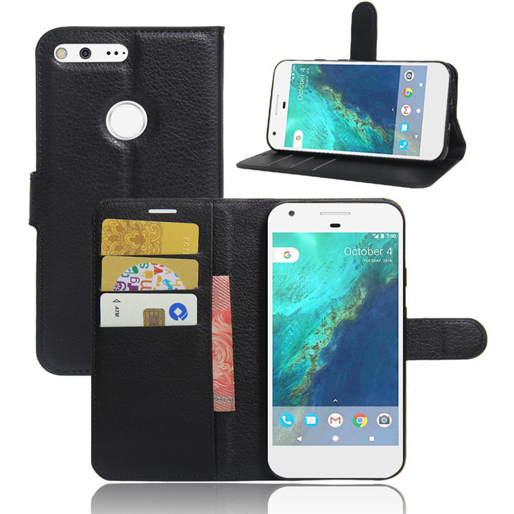 Luxury Busines PU Case For Google Pixel 5.0 Inches Leather Cover For Google Pixel Case 5.0 Inch Stander Card Slot