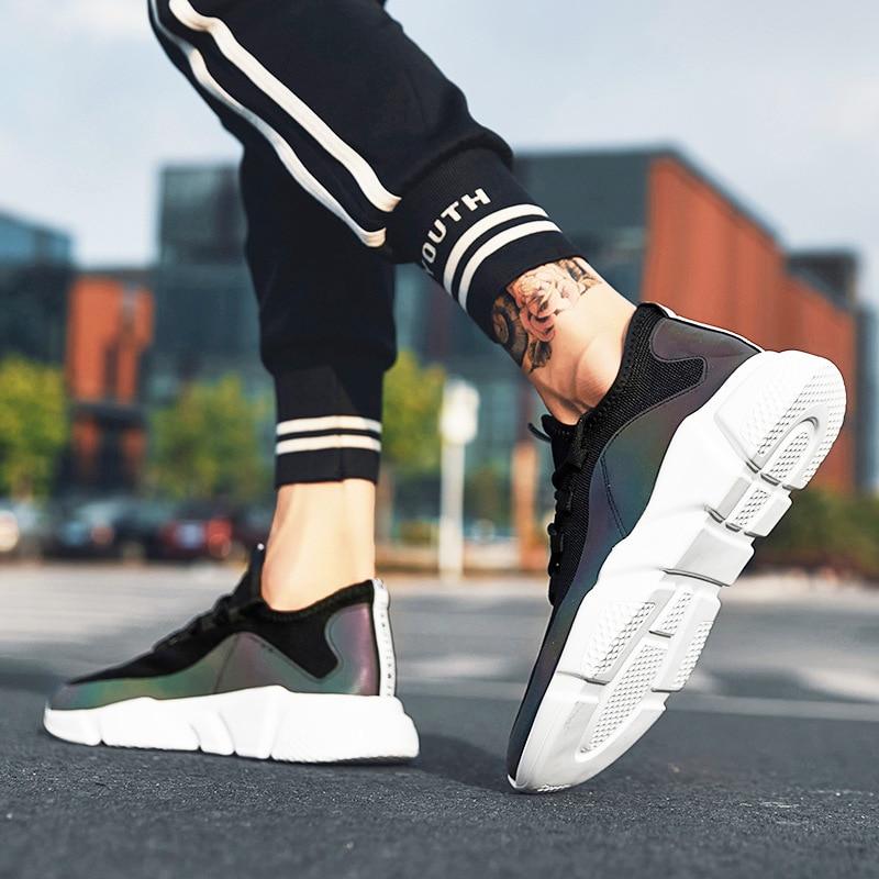 Hommes Solide Garçons Noir Concise Vulcaniser D'hiver Chaussures Patchwork blanc Bande Sneakers Décontractées Mode Respirant Mesh Air Toile qvnOZxEXY