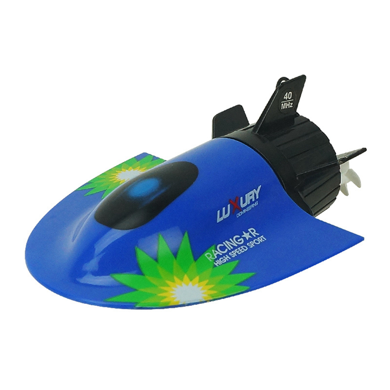 1Pcs Mini Radio Control Submarine Racing Boat High Powered Remote Control Submersible Boats Toys RC Submarine 27MHz J2
