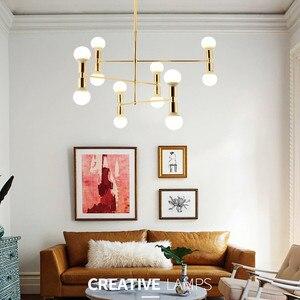 Image 1 - Nordic Creative Concise Individuality Art Iron Pendant Light Cafe Restaurant Decoration Hanging Lamp Free Shipping