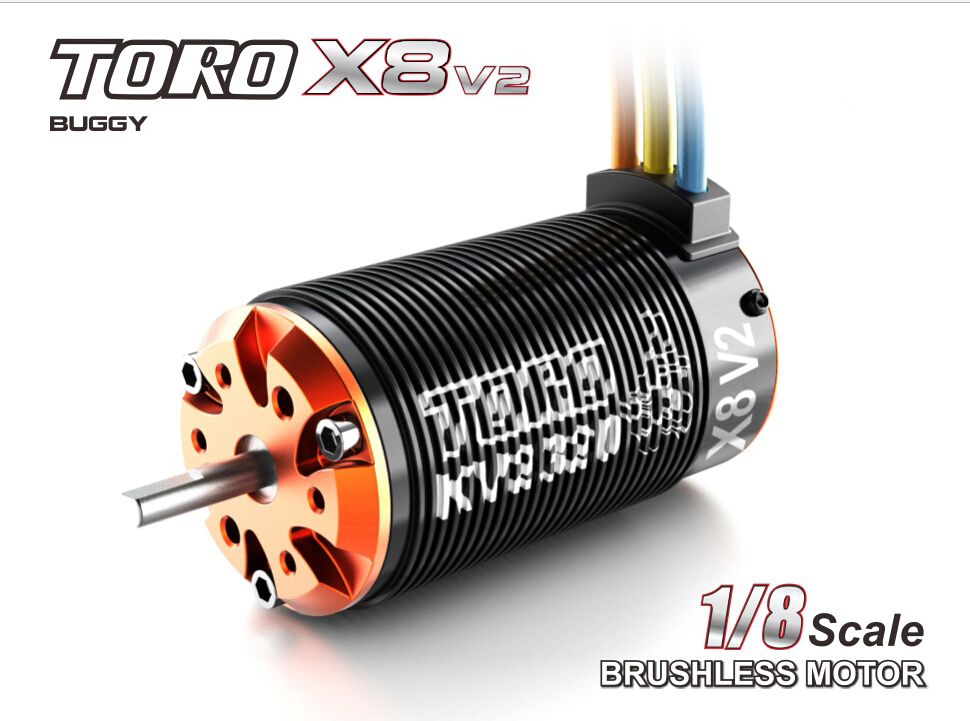 Toro X8 V2 Brushless 6 Pole Sensorless Motor 1 8 RC Car Buggy 2100KV 7T