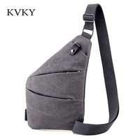 KVKY 2017 Unisex Messenger Bag Men Canvas Multipurpose Chest Pack Sling Shoulder Bags Man And Woman