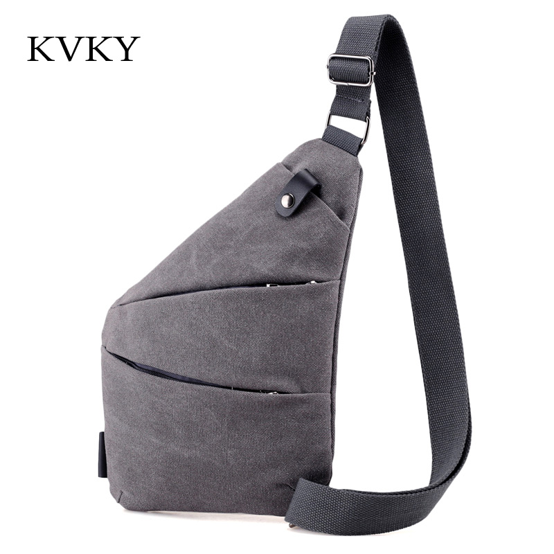 KVKY 2018 Unisex Messenger Bag Men Canvas Multipurpose Chest Pack Sling Shoulder Bags Man and woman Casual Crossbody Bolsas