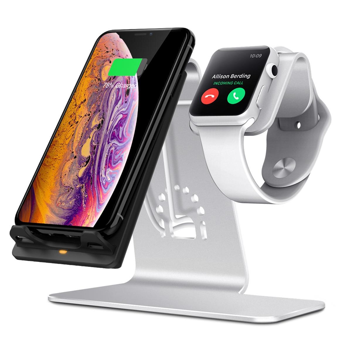 Support de chargeur sans fil deux-en-un pour téléphone portable Iwatch chargeur de téléphone portable chargeur sans fil chargeur apple watch