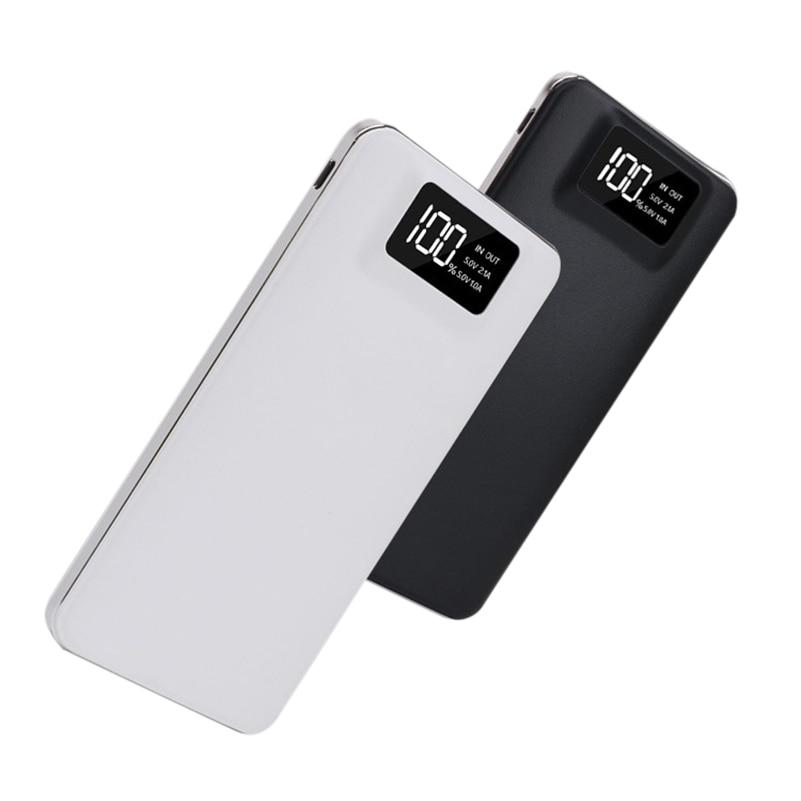Fino 20000 mAh Banco De Potência Polímero Portátil Ultra-fino Powerbank bateria power-banco Com Luz LED Carregador Rápido para o Telefone Móvel