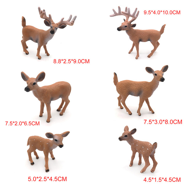 1PC Home Party Decoration Static Decor Xmas Cute 1pc HOT PVC Deer Figure Christmas Fashion Family of Three Doll 4