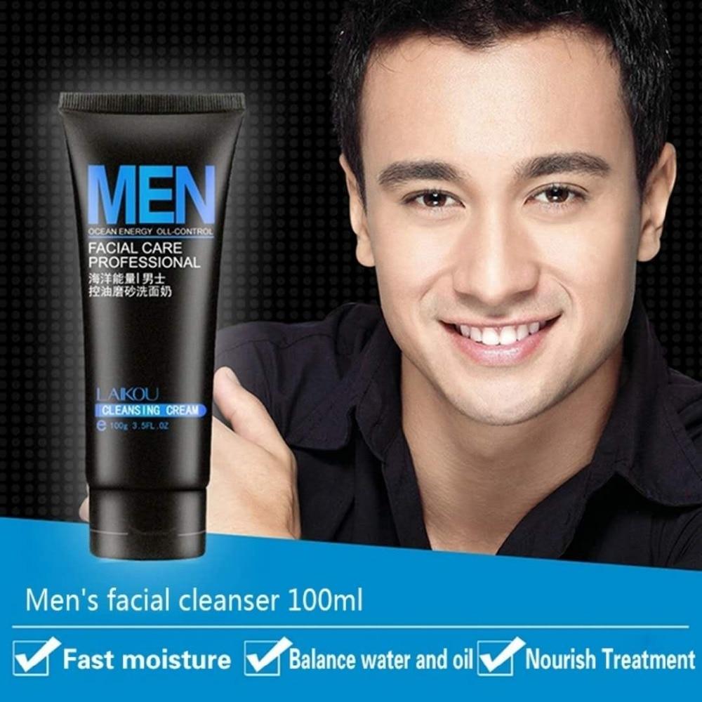 LAIKOU 100g Aceite de limpieza profunda Control facial exfoliante Cuidado de la piel Limpiador Espinilla para el acné blanqueamiento lavado facial limpiador exfoliante