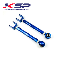 Kingsun Rear Adjustable Camber Kit/Lower Traction Control Toe Arm Suspension For 89 94 Nissan 240SX S13 Silver