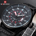 2016 Новый мужской Кожаный Ремешок Военные Наручные Часы Мода Марка Часы Мужчины Кварц Час Дата Аналоговые Часы Мужчины Спортивные часы