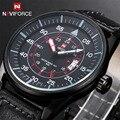 2016 Nova Leather Strap Militar Relógio de Pulso dos homens Marca de Moda Relógios Homens Relógios de Quartzo Horas Data Relógio Analógico Esportes Homens relógios