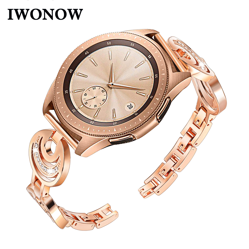 Women Stainless Steel Watchband for Samsung Galaxy Watch 42mm / Active Quick Release Band Diamond Jewelry Strap Wrist BraceletWomen Stainless Steel Watchband for Samsung Galaxy Watch 42mm / Active Quick Release Band Diamond Jewelry Strap Wrist Bracelet