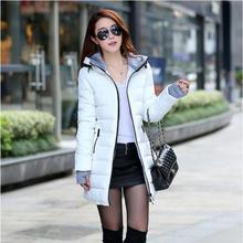 2016 Fashion Duck Down wadded jacket female new women's winter jacket down cotton jacket slim parkas ladies coat plus size M-3XL