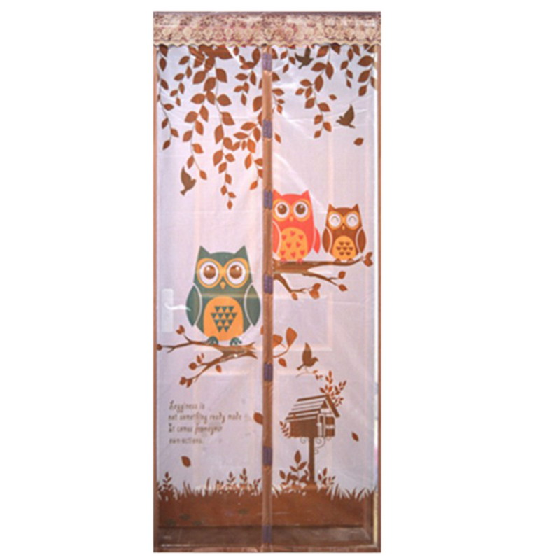Magnetic Curtains Door Screen Tulle owl / Monkey Anti-Mosquit Curtain Hands-free Mosquito Net Curtain For Kitchen Door Screens