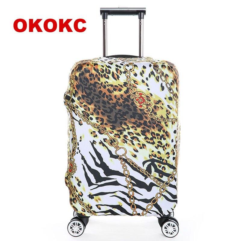 OKOKC Цветы Путешествия Чемодан чемодан защитная крышка, стрейч, сделано для S/M/L/XL, применяются к 18-32 дюймов случаях, дорожные аксессуары