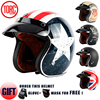 TORC T50 Open Face Motorcycle Helmet Free Shipping D Ring Closure Jet Vintage Helmet Retro 3