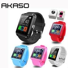 Venta caliente smart watch relojes de pulsera pasómetro altímetro barómetro reloj u8 smartwatch para iphone android