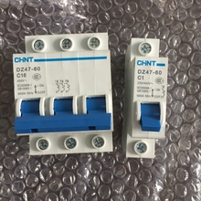 Free shipping AC circuit breaker 1A-60A 3P Single stage three phase small household circuit breaker 40A DZ47-60 air switch