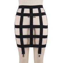 JLX.HARNESS  Sexy Cool Street Caged Shaping Shaper garter belt  Harness Body Bondage Skirts Chain Dress