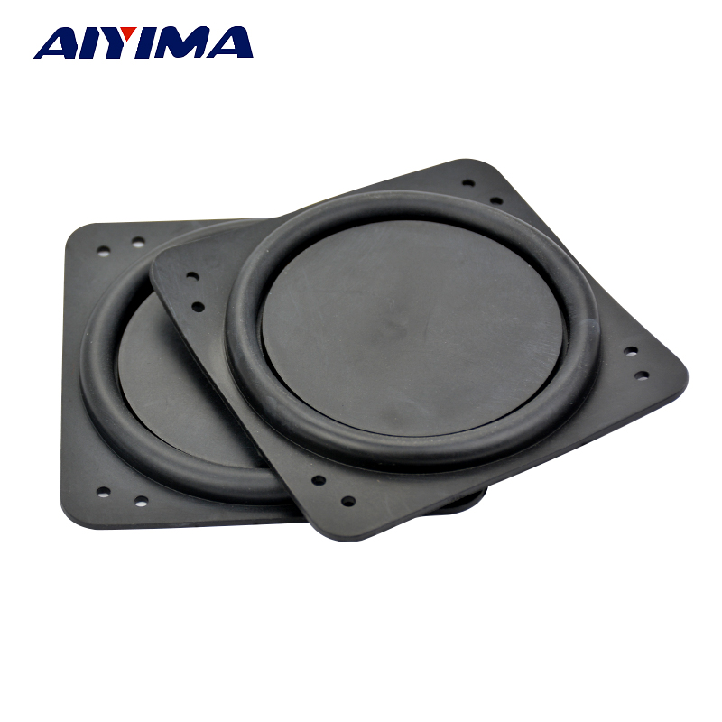 Aiyima 2pcs 3inch rubber vibrating plate Speaker radiator bass diaphragm