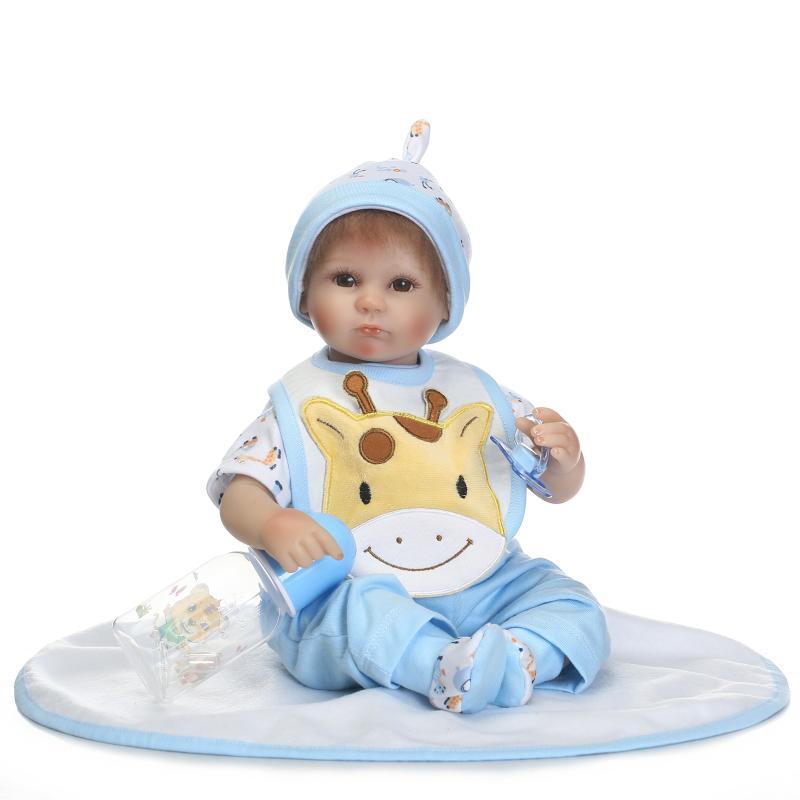 """Baby reborn doll toys für verkauf 16 """"40 cm silikon rebron puppen bebe junge reborn bonecas kinder bildung toys geschenk"""