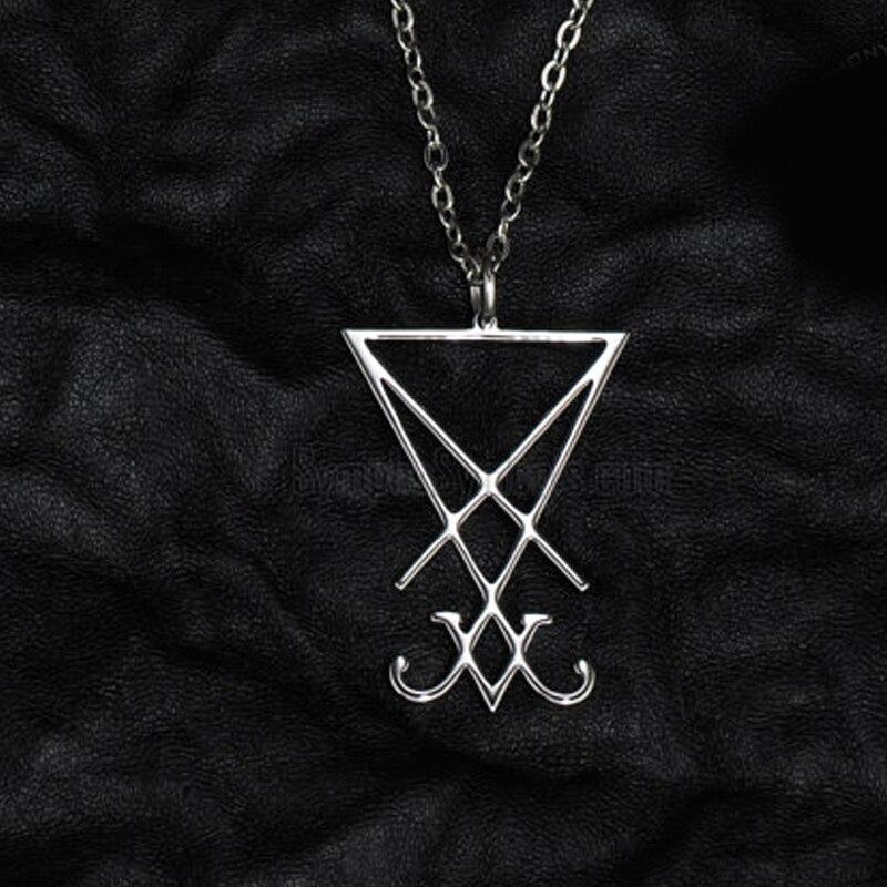1 Pz Lucifero Sigillo Del Pendente Dei Monili Della Collana Geometria Misterioso Collana Per Produrre Un Effetto Verso Una Visione Chiara