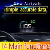 D3000 Car HUD Head Up Display Car OBD 2 Digital Car Speedometer Speed Projector Warning Car Auto HUD OBD2 Display Alarm System